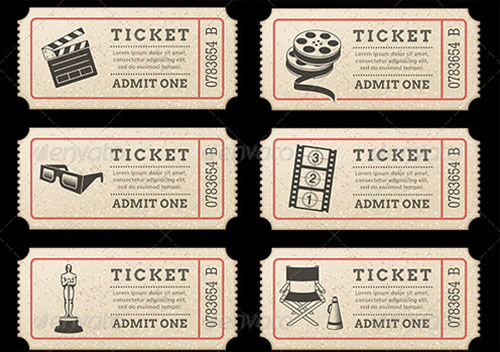 Movie Ticket Template Free Word EPS PSD Formats Download