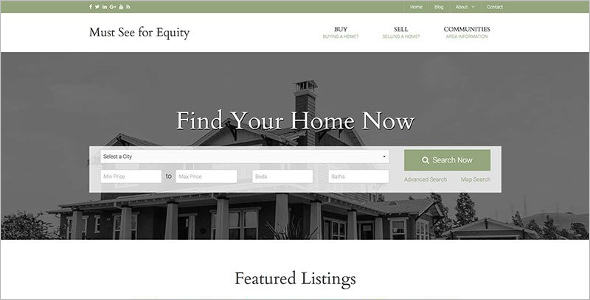 Classic Realtor Website Template