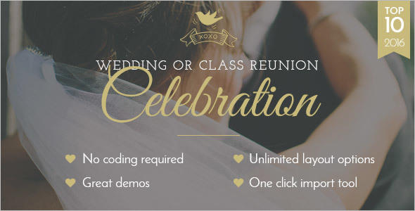 Classic Wedding WordPress Template