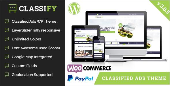 Classified Marketing WordPress Template