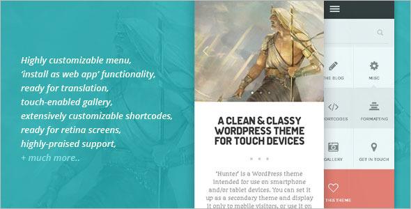 Clean & Classy Mobile WordPress Template