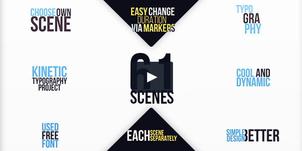 Clean Typography After Effect Video Template