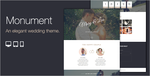 Clean Wedding WordPress Template