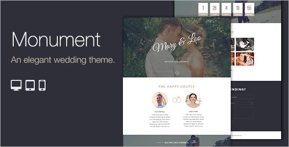 Clean Wedding WordPress Template