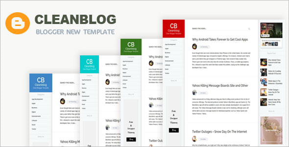 Clean blog Blogging Blogger Template