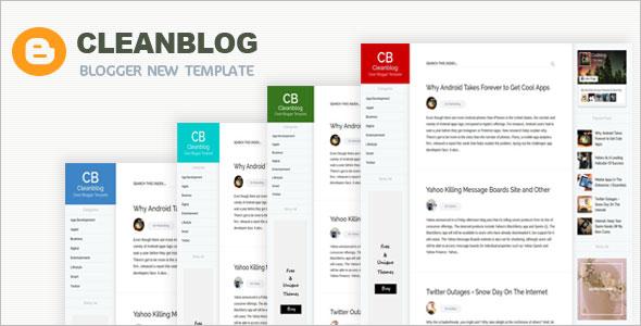 Clean blog Blogging Blogger Template