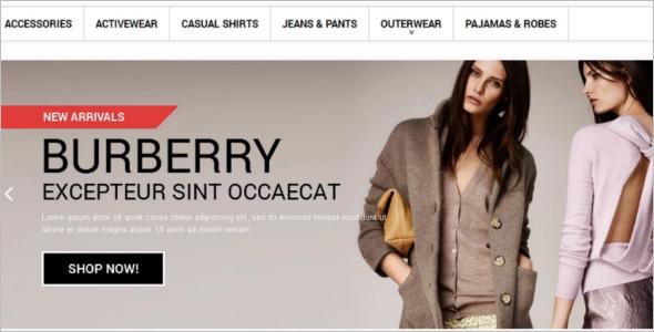 Clothes Boutique Website Template