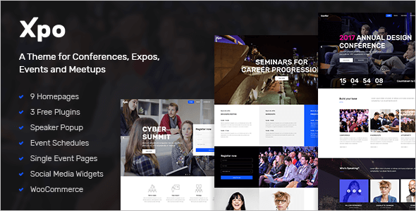 Conferences Entertainmennt WordPress Template
