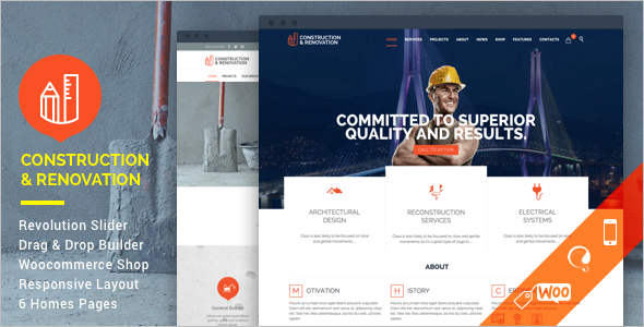 Construction Business WordPress Template