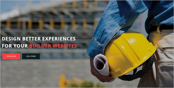 Construction Parallax WordPress Template