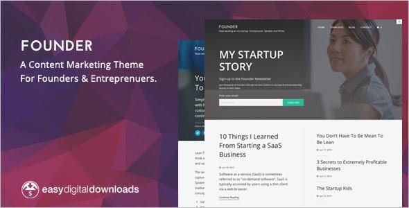 Content Marketing WordPress Theme