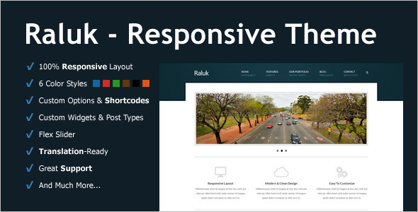 Corporate One Page WordPress Template