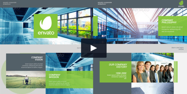 Corporate Slideshow Video Tutorial Template