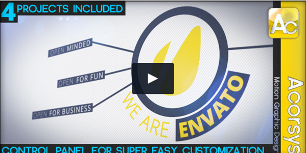 Corporate Typography Promo Video Template