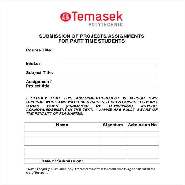 privacy policy template ecommerce - cover page for project submission example format