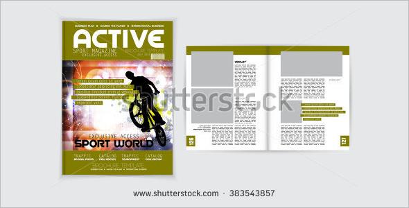 Cover Sport Magzine Template