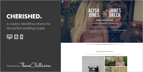 Crafted Wedding WordPress Template
