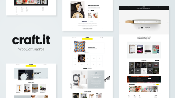 Crafted WooCommerce WordPress Template