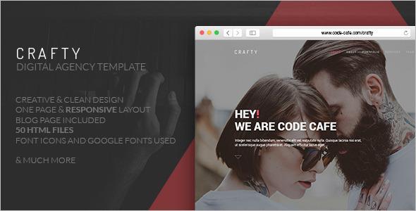 Crafty Digital Marketing WordPress Template