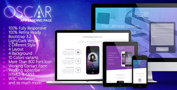 Creative App Landing Page Theme