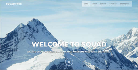 Creative Bootstrap Website Template