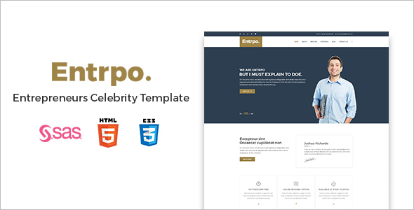 Creative Celebrity WordPress Template