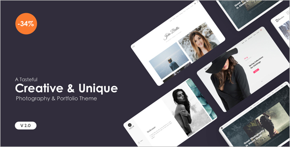 Creative Dark WordPress Template
