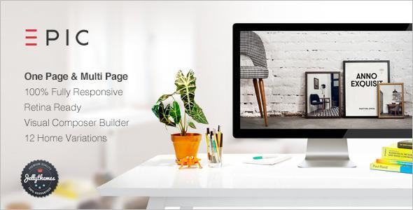 Creative Flat Design WordPress Template