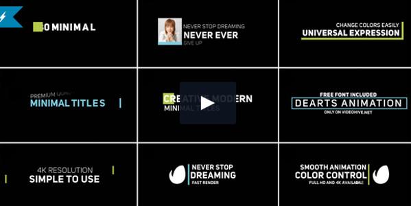 Creative Minimal Typography Video Tutorial