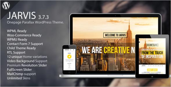 Creative Onepage Parallax WordPress Theme