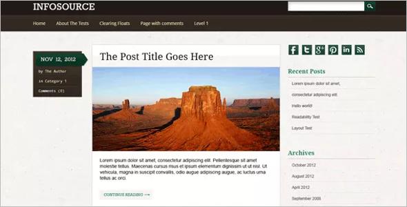 Creative Open Source WordPress Template