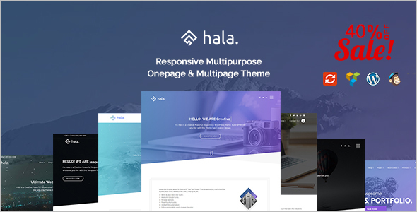 Creative Single page WordPress Template