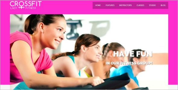 Crossfit Gym Website Template