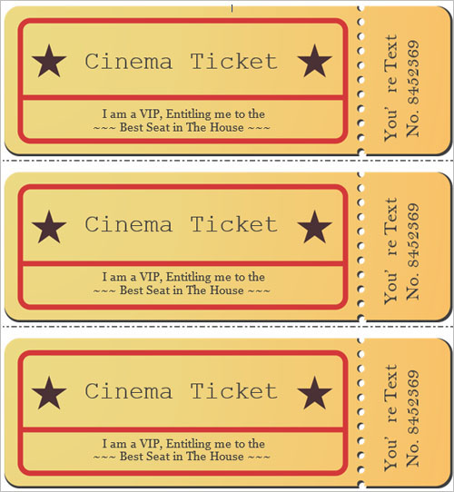 Customizable Movie Ticket Templates