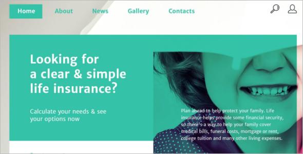 Customize Insurance Website Template