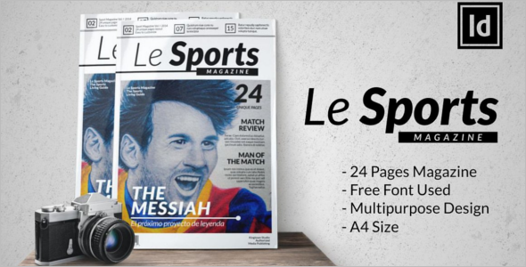 Customize Sports Magzine Template
