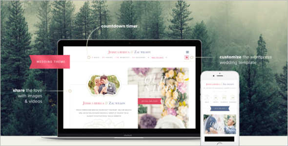 Customize Wedding WordPress Template