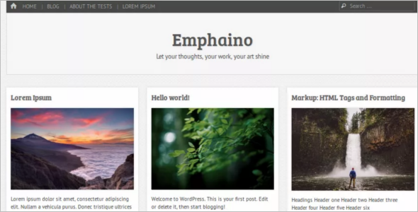 Customizer Open Source WordPress Template