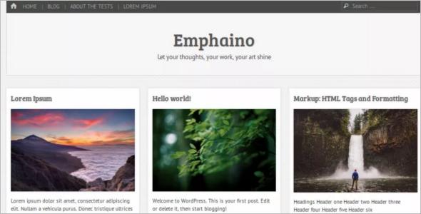 Customizer Open Source WordPress Template
