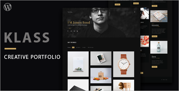 Dark Portfolio WordPress Theme