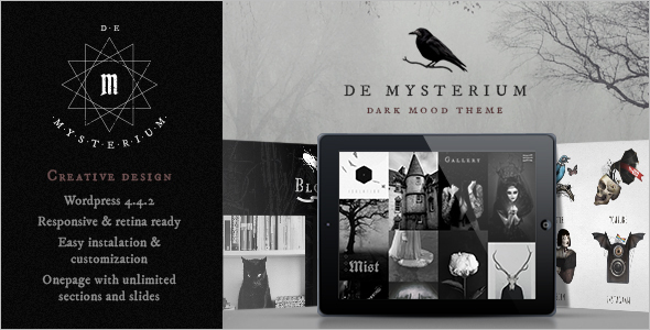 Dark WordPress Template Design