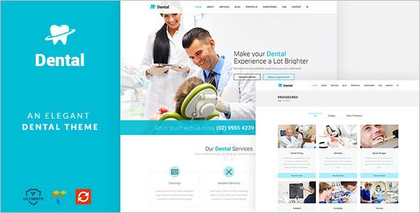 Dental Healthcare WordPress Template