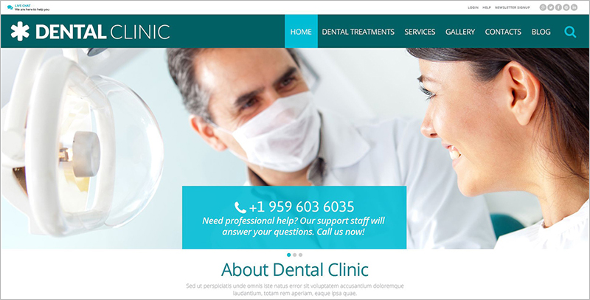Dental Medical Clinic WordPress Theme