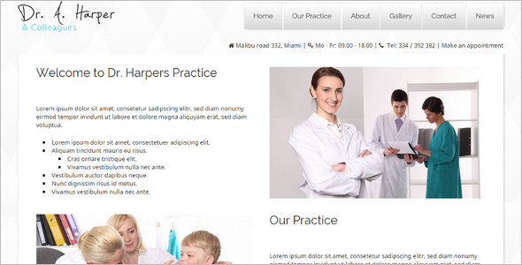 Dental Pratice WordPress Template