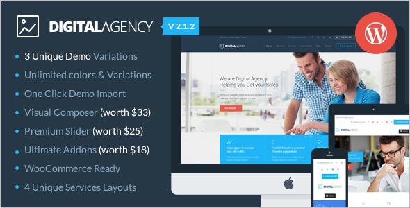 Digital Agency Marketing WordPress Template