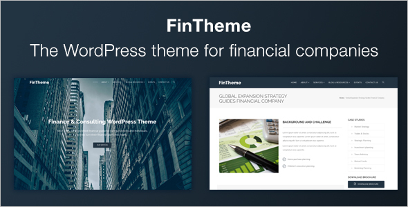 Download Finance Website Template