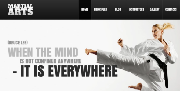 Download Martial Art WordPress Template