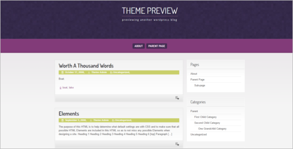 Download Open Source WordPress Template