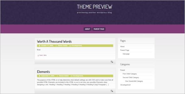 Download Open Source WordPress Template