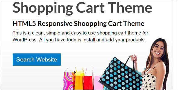 Download Shopping Cart WordPress Template